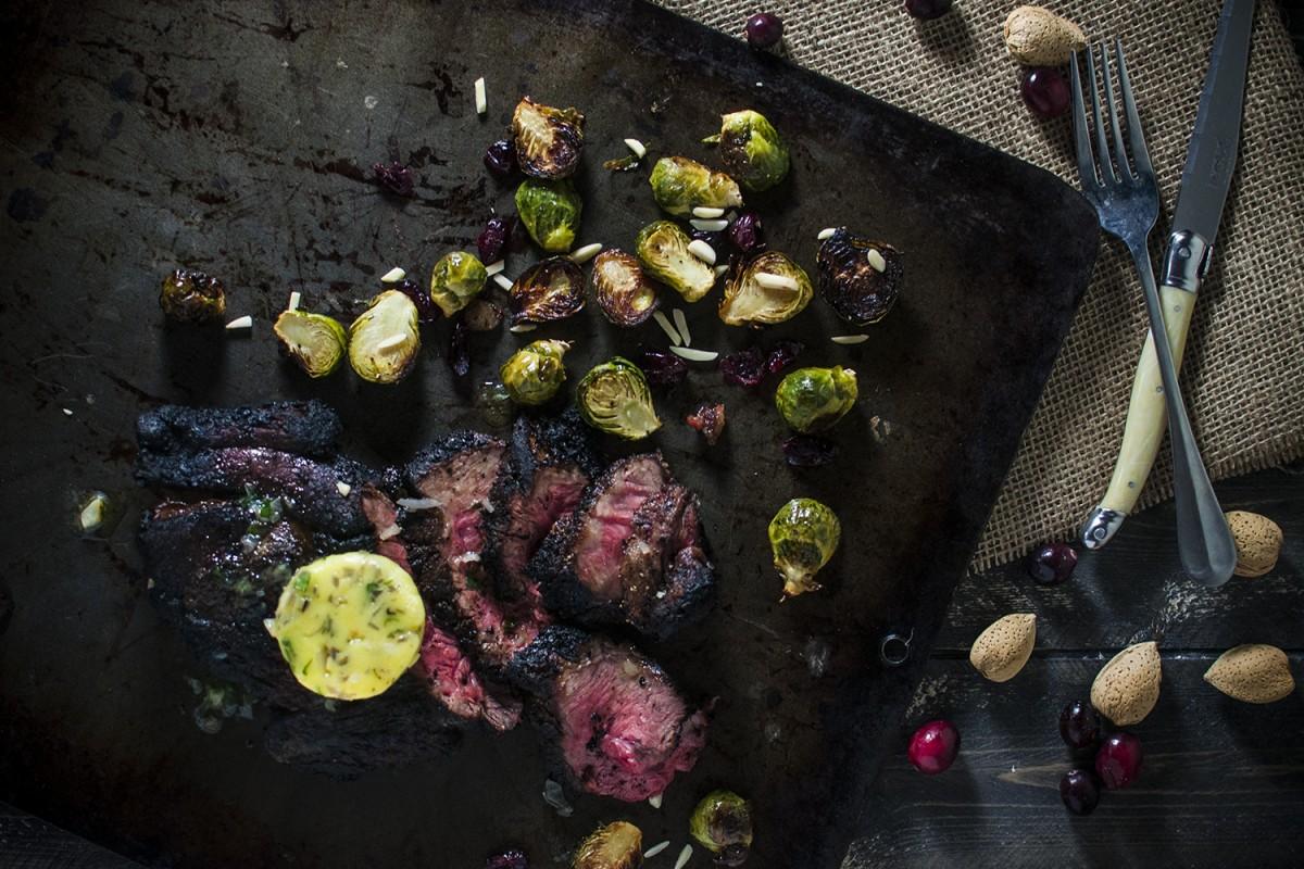 Steak with Garlic Bearnaise Butter