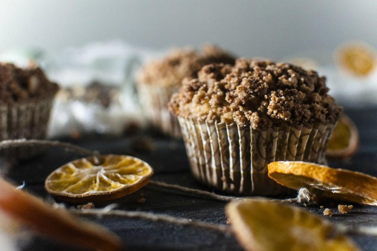 Paleo Cardamom Streusel Orange Muffins