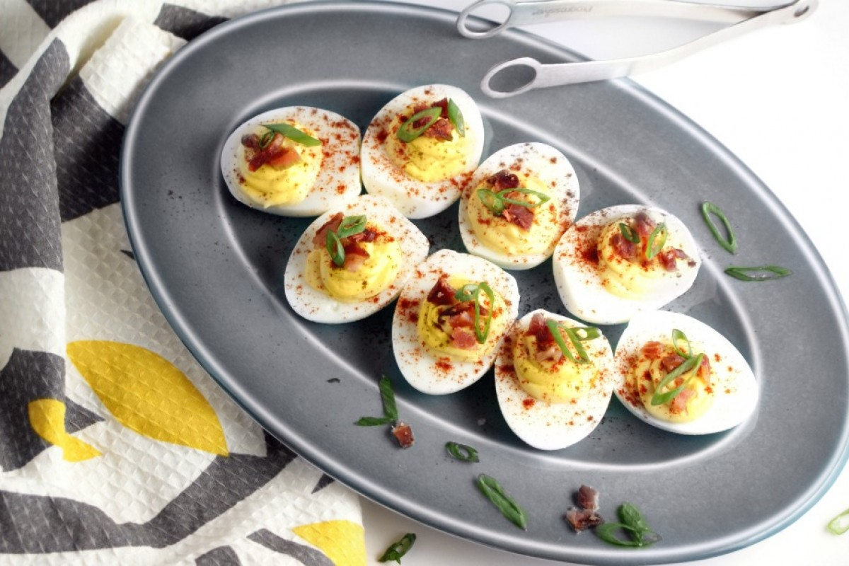 Chipotle Bacon Deviled Eggs • Paleo Foundation