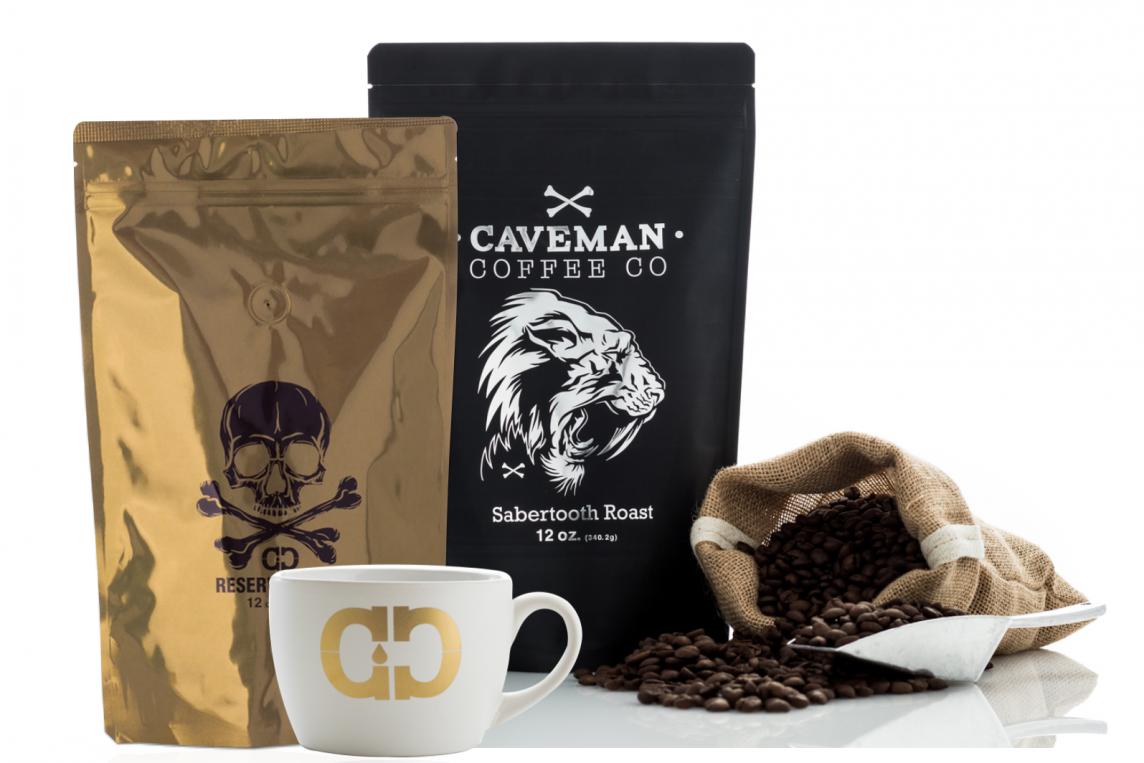 """<span class=""""hot"""">Hot <i class=""""fa fa-bolt""""></i></span> Caveman Coffee Co."""