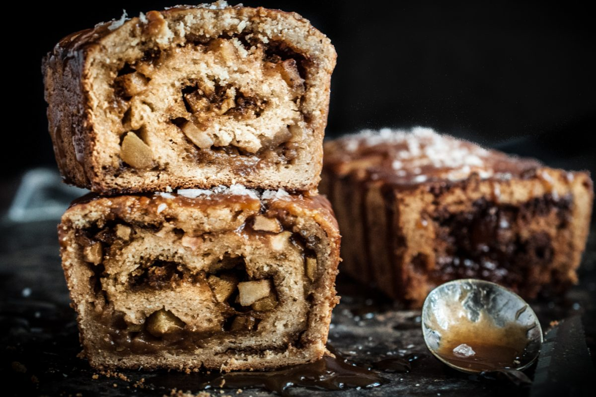 Salted Caramel Apple Babka