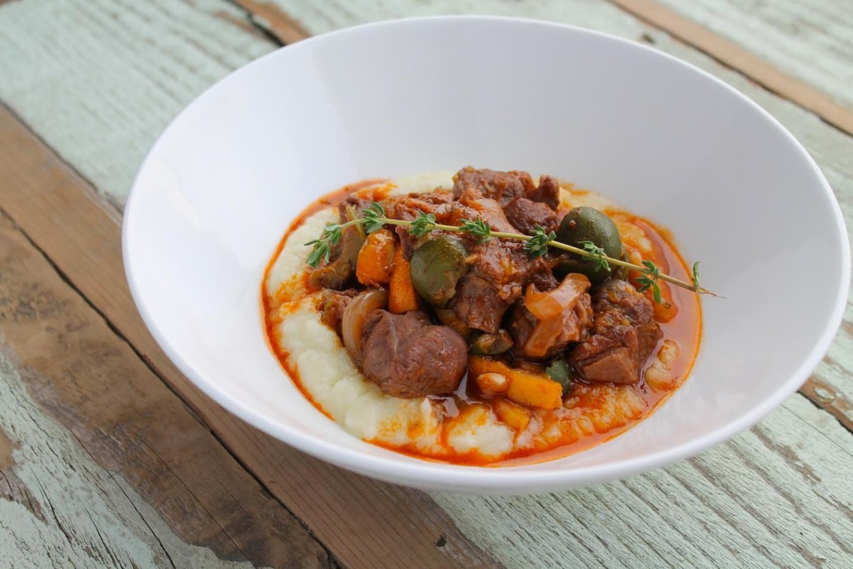 Paleo Lamb Stew with Oranges and Olives