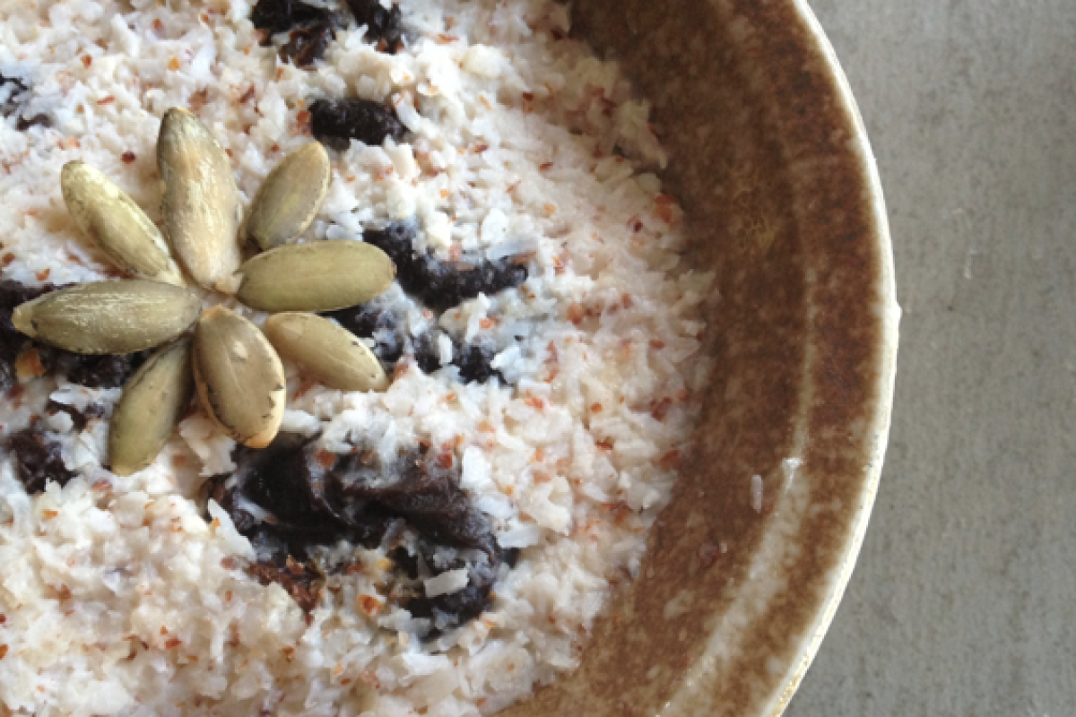 Coconut Pudding with Prunes