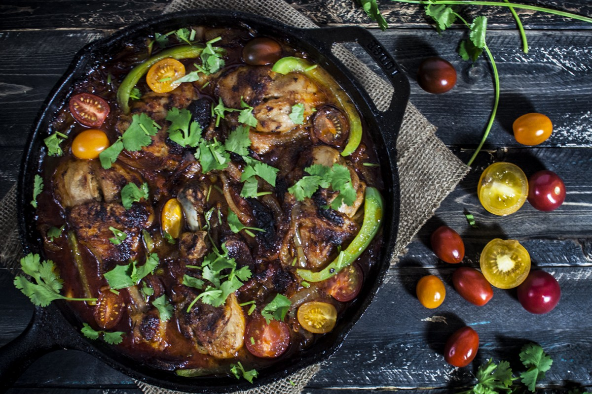 One Skillet Chorizo Chicken