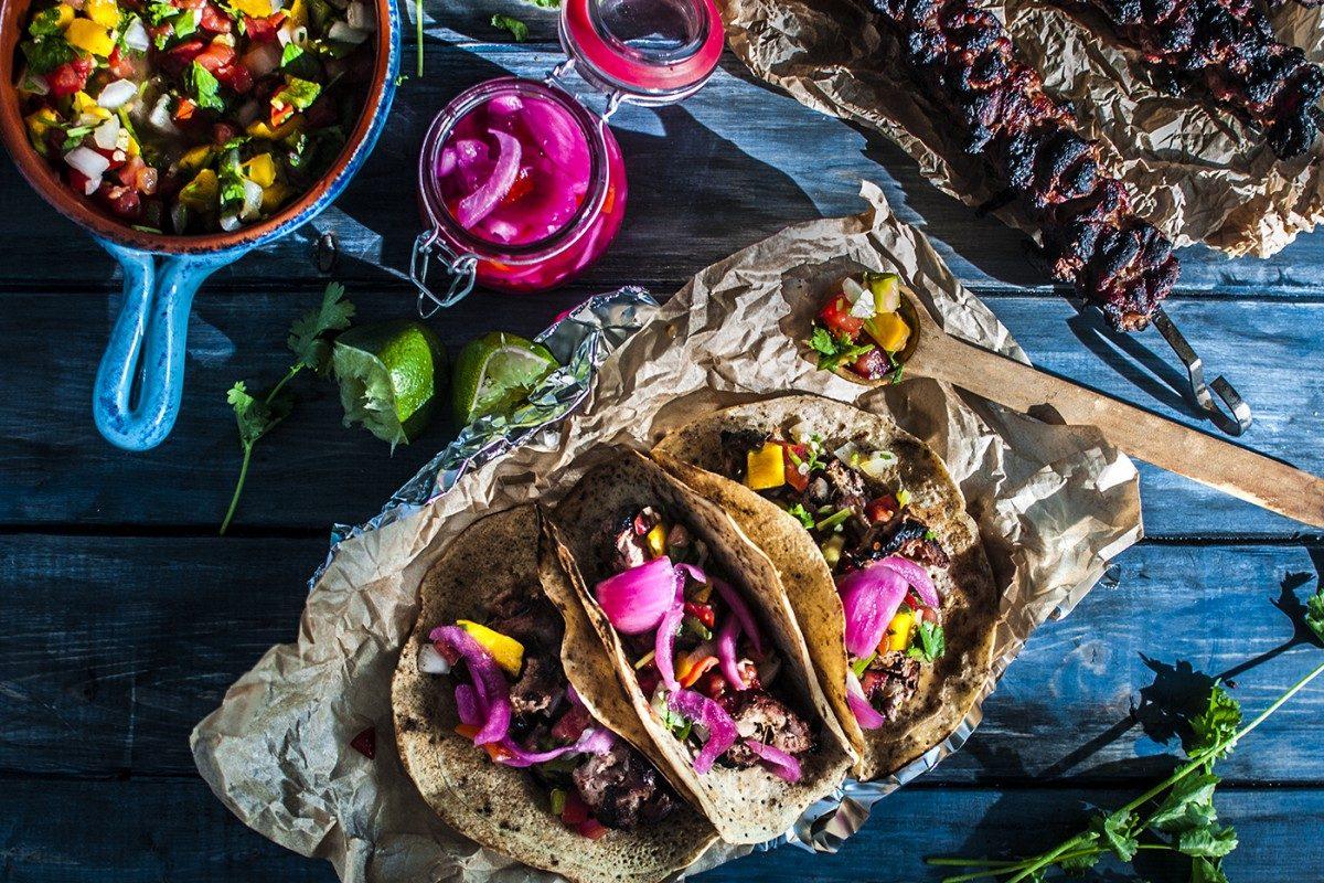 Carnitas Kabob Tacos