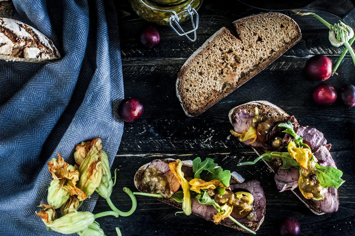 """Summer Lamb Salad on """"Toast"""""""