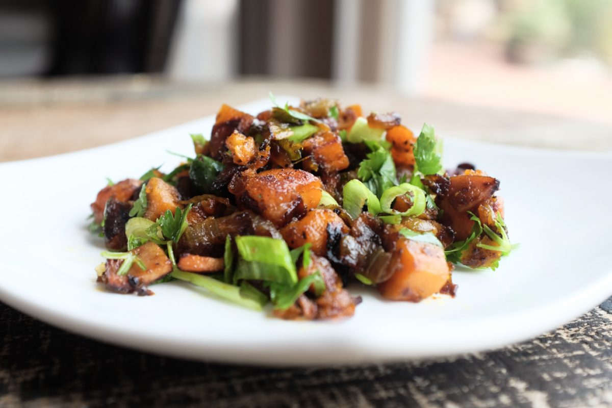 Tandoor Sweet Potato Hash Recipe