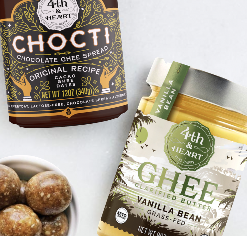 4th and heart chocti and keto certified ghee