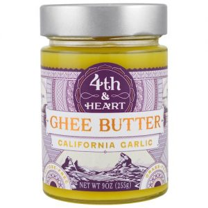 California Garlic Ghee - 4th & Heart - Certified Paleo, KETO Certified - Paleo Foundation