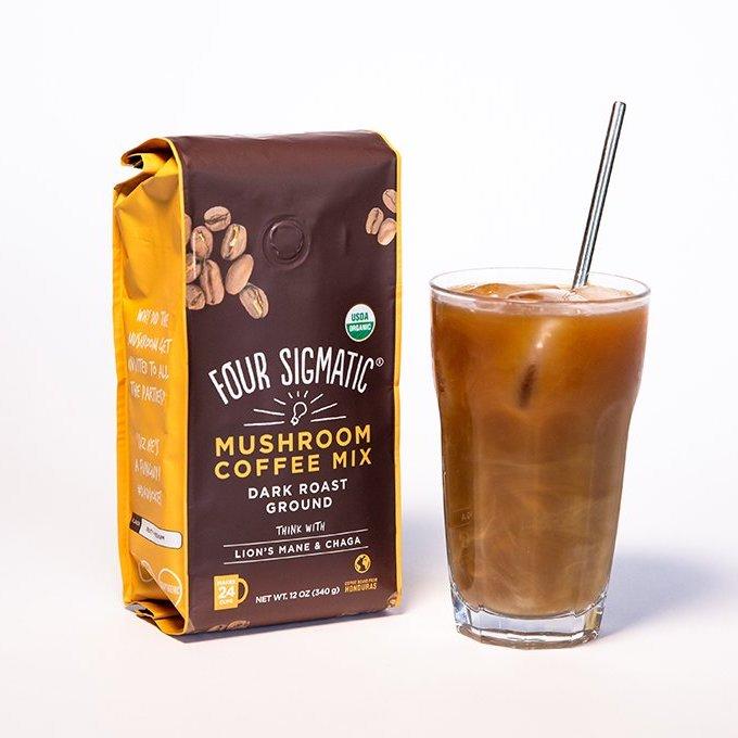 Ground Mushroom Coffee 1 - Four Sigmatic - Certified Paleo, Keto Certified, PaleoVegan by the Paleo Foundation