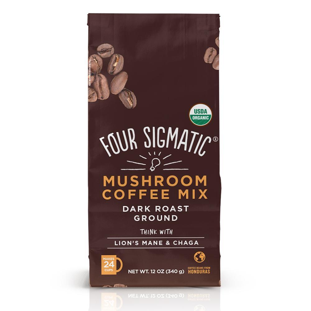 Ground Mushroom Coffee - Four Sigmatic - Certified Paleo, Keto Certified, PaleoVegan by the Paleo Foundation