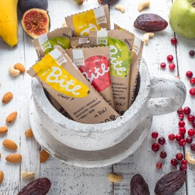 Take a Bite Lineup - BioFoodLab - Bite Bar is 100% raw nut and fruit bar from Russia made by BioFoodLab company. All the ingredients can be read, understood, and pronounced by everyone. Made from 100% natural ingredients. No use of chemical additives. #certifiedpaleo #paleo