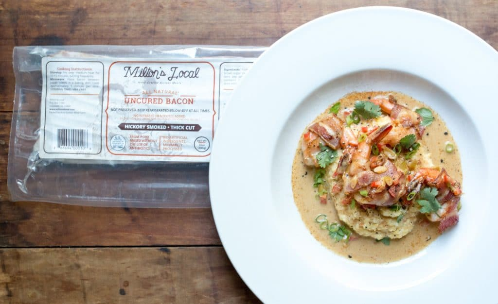 MILTON'S LOCAL BACON WRAPPED SHRIMP AND GRITS