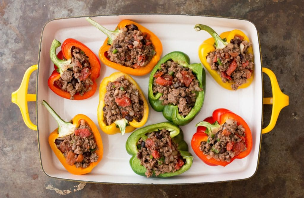 MILTON'S LOCAL GROUND BEEF STUFFED PEPPERS