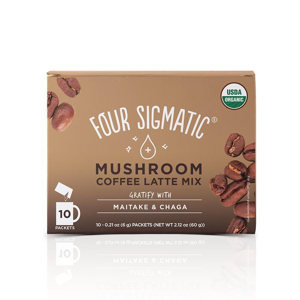Mushroom Coffee Latte - Four Sigmatic - Certified Paleo, Keto Certified, PaleoVegan by the Paleo Foundation