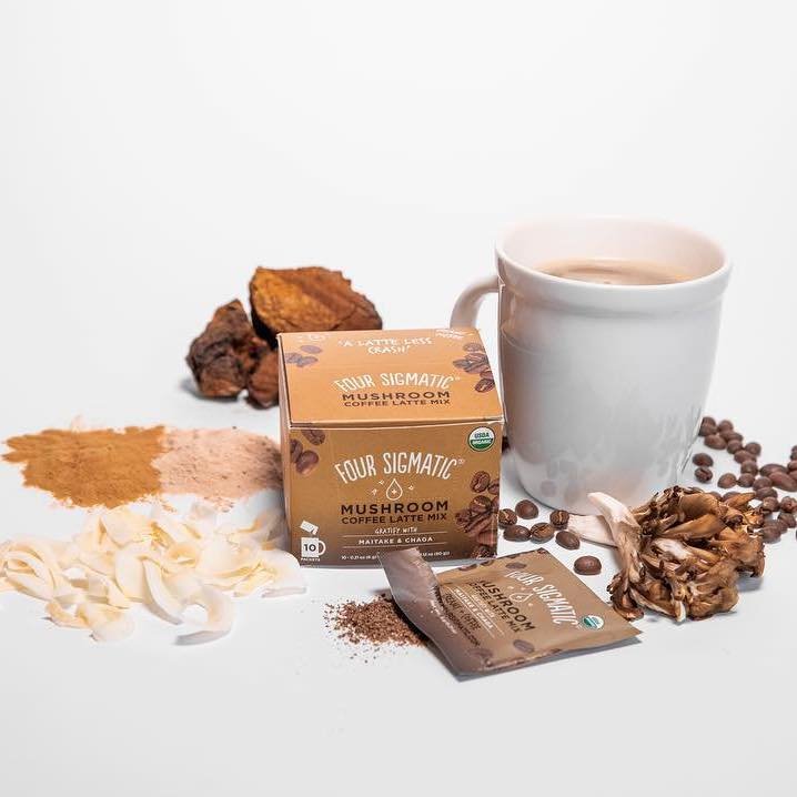 Mushroom Coffee Latte with Maitake & Chaga 1 - Four Sigmatic - Certified Paleo, Keto Certified, PaleoVegan by the Paleo Foundation