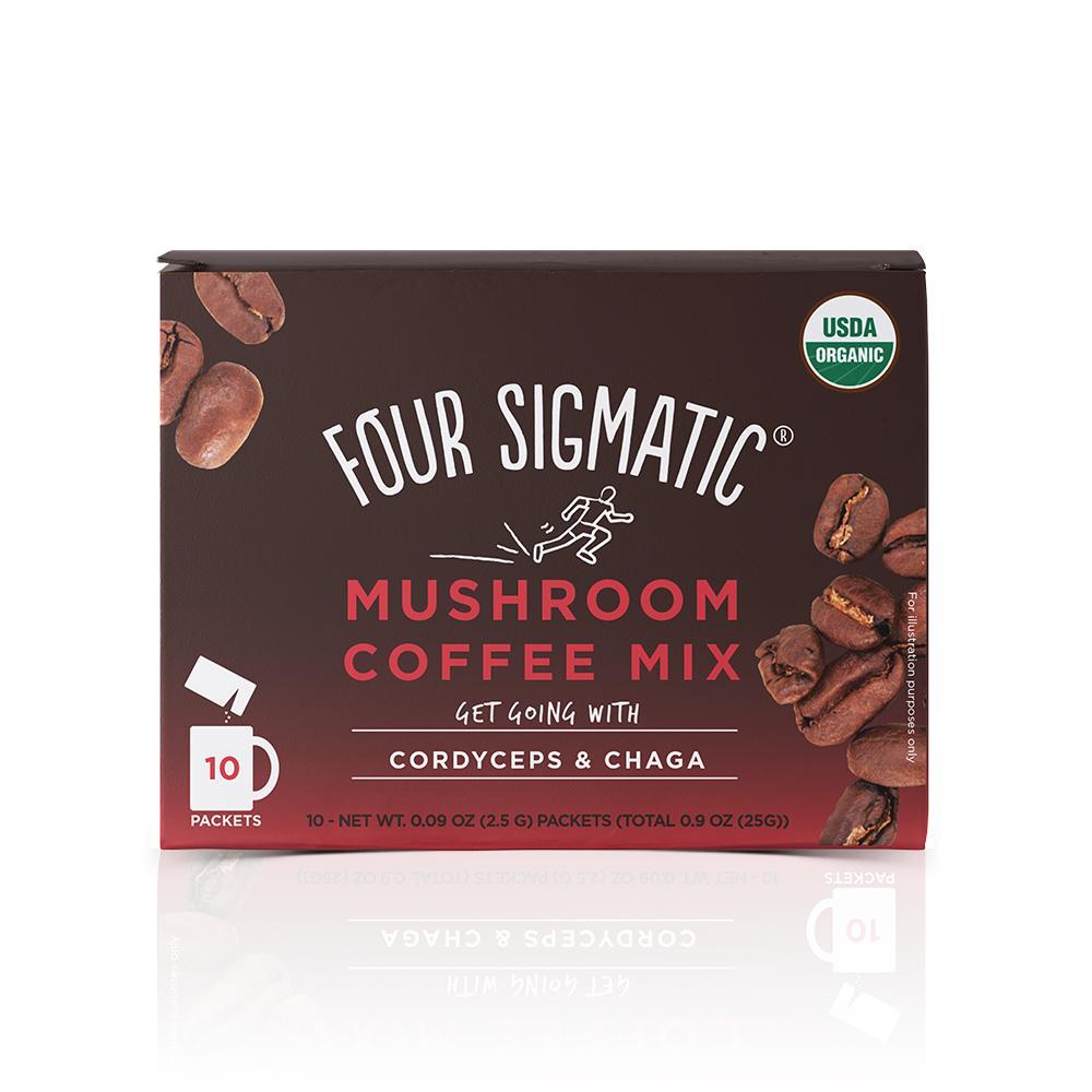 Mushroom Coffee with Cordyceps and Chaga - Four Sigmatic - Certified Paleo, Keto Certified, PaleoVegan by the Paleo Foundation