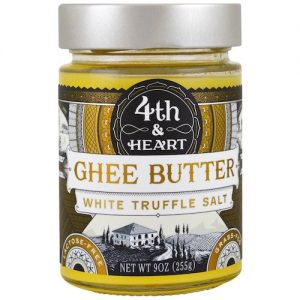 White Truffle Salt Ghee - 4th & Heart - Certified Paleo, KETO Certified - Paleo Foundation