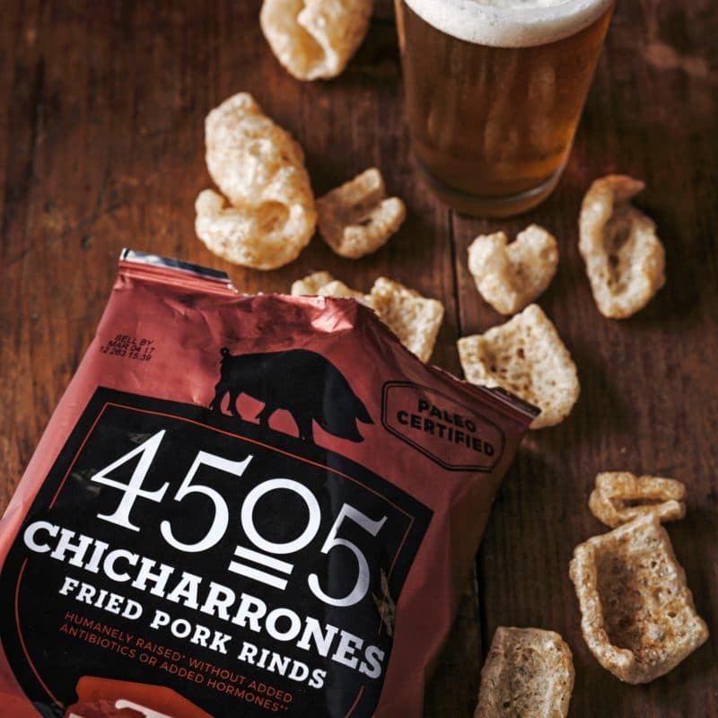 Classic Chili & Salt 4505 Chicharrones - 4505 Meats is a burgers and BBQ joint which is a Producer of all things meaty. 4505 Meats is dedicated to flavor and quality, adding our own unique touches to create exceptional meaty products. #paleo #certifiedpaleo