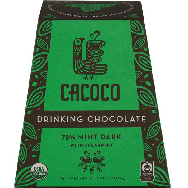 75% Mint Dark Chocolate Blend - CACOCO - Certified Paleo, Paleo Vegan - Paleo Foundation
