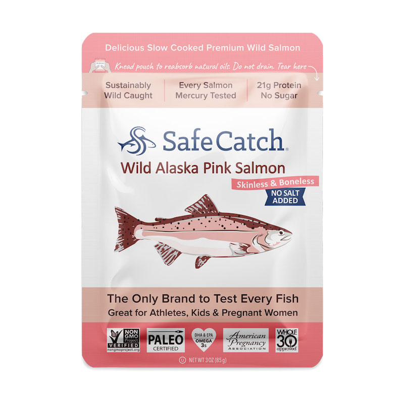 Alaskan Wild Pink Salmon – No Salt Added pouch - Safe Catch - Certified Paleo, KETO Certified by the Paleo Foundation
