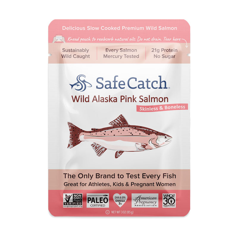 Alaskan Wild Pink Salmon pouch - Safe Catch - Certified Paleo, KETO Certified by the Paleo Foundation