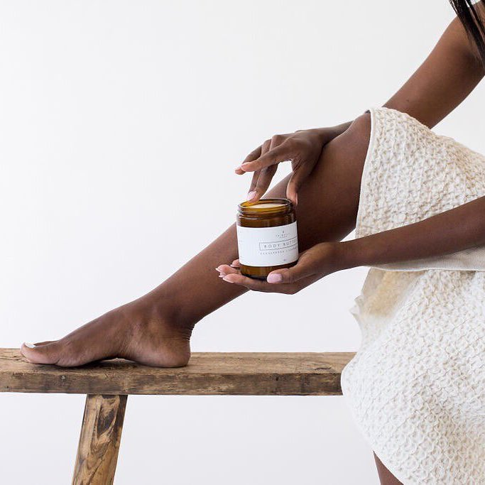 Almond + Vanilla Body Butter application - Primally Pure - Certified Paleo by the Paleo Foundation