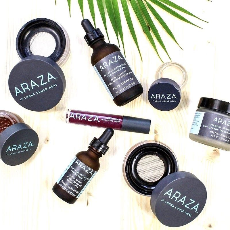Araza Beauty Paleo Certified Skincare variety