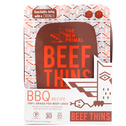 BBQ Beef Thins - The New Primal - Certified Paleo, KETO Certified - Paleo Foundation