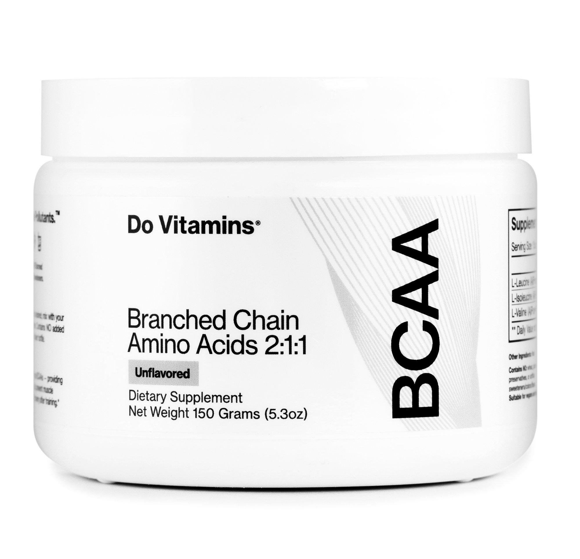 BCAA Powder - Do Vitamins - Certified Paleo, Keto Certified, Paleo Friendly, PaleoVegan by the Paleo Foundation