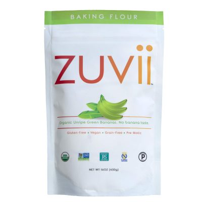 Zuvii Banana Flour - Zuvii is made from 100% unripe, green bananas. Bananas, in their unripe form, contain RS2, an important form of resistant starch that is found in few foods, which results in numerous health benefits by promoting the growth of good bacteria in the gut. #paleo #certifiedpaleo