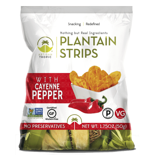 Cayenne Pepper Plantain Chips 1.75oz - Artisan Tropic - Certified Paleo, Paleo Vegan - Paleo Foundation
