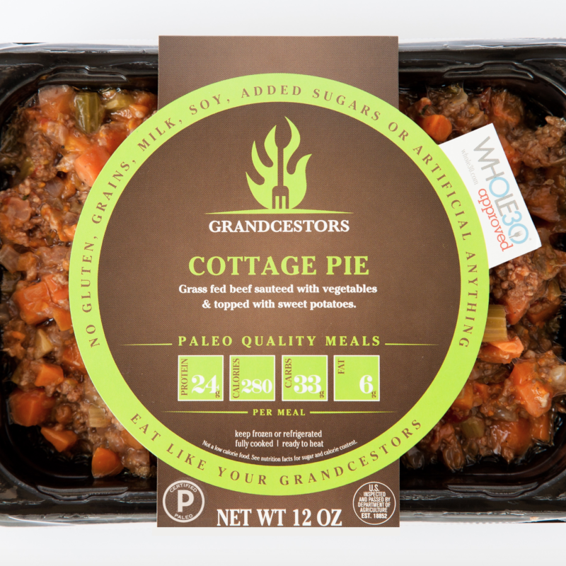 Certified Paleo and Whole30 Approved Cottage Pie Grancestors pre-made paleo meals