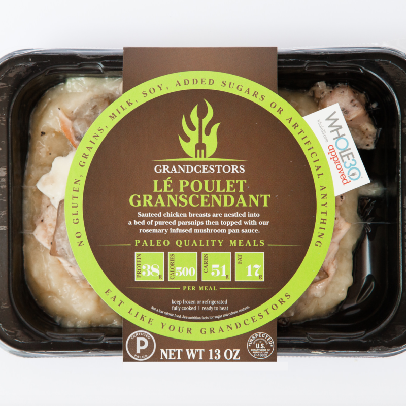 Certified Paleo and Whole30 Approved Le Poulet Grandescendant Grancestors pre-made paleo meals