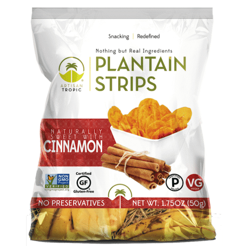 Cinnamon Plantain Chips- 1.75oz - Artisan Tropic - Certified Paleo, Paleo Vegan - Paleo Foundation