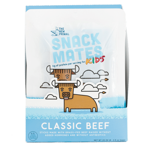 Classic Beef Snack Mates - The New Primal - Certified Paleo, KETO Certified - Paleo Foundation