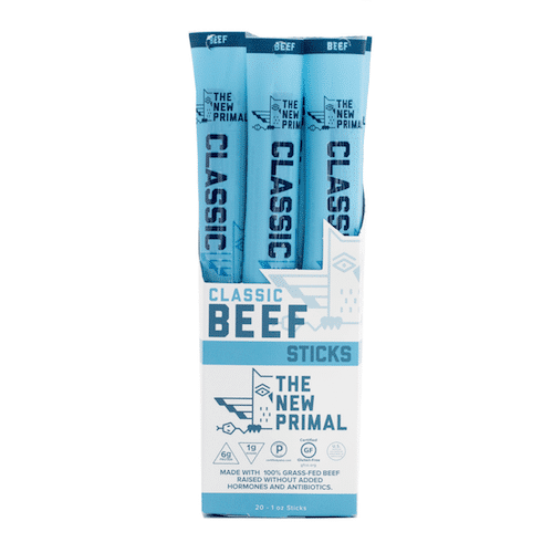 Classic Beef Sticks - The New Primal - Certified Paleo, KETO Certified - Paleo Foundation