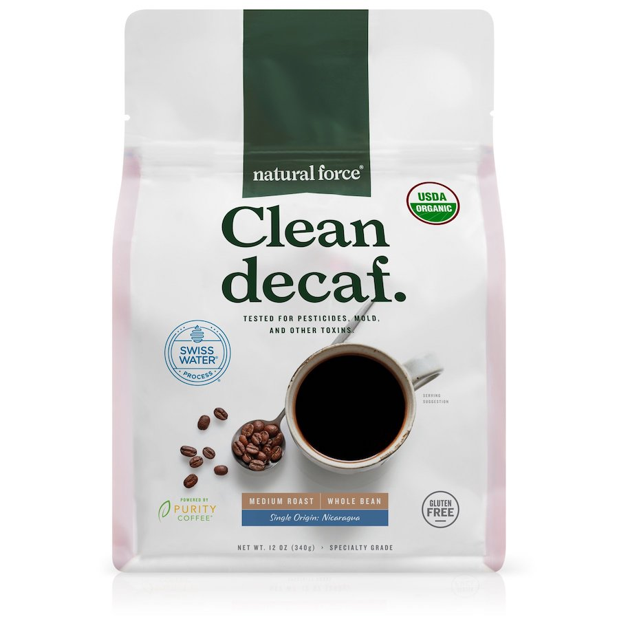 Clean Decaf - Natural Force - Certified Paleo, Keto Certified by the Paleo Foundation