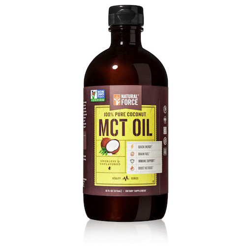 Coconut MCT Oil - Natural Force - Certified Paleo, KETO Certified - Paleo Foundation