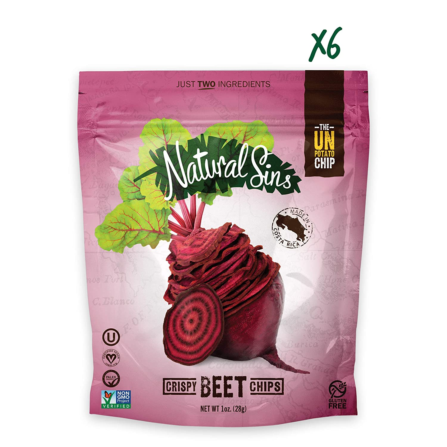 Crispy Beet Chips - Naturals Sins - Certified Paleo Friendly by the Paleo Foundation