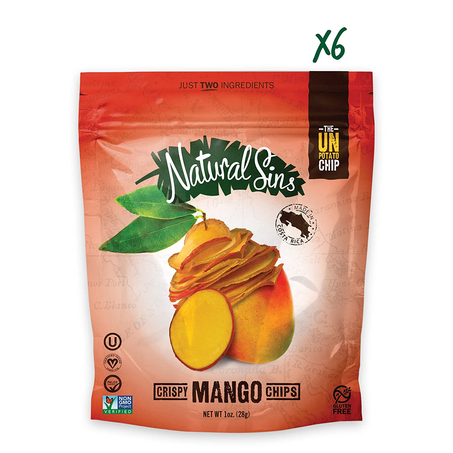 Crispy Mango Chips - Naturals Sins - Certified Paleo Friendly by the Paleo Foundation