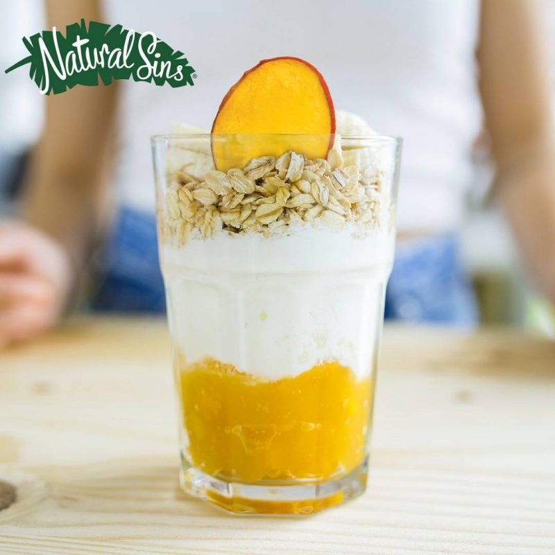 Crispy Mango Chips in a smoothie - Naturals Sins - Certified Paleo Friendly by the Paleo Foundation