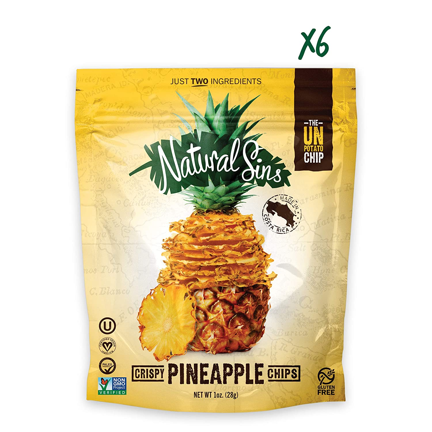 Crispy Pineapple Chip - Naturals Sins - Certified Paleo Friendly by the Paleo Foundation