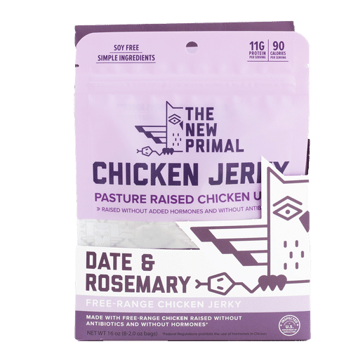 Date & Rosemary Chicken JErky - The New Primal - Certified Paleo, KETO Certified - Paleo Foundation