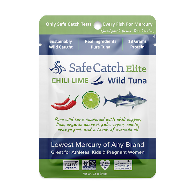 Elite Wild Tuna Chili Lime Pouch - Safe Catch - Certified Paleo, KETO Certified by the Paleo Foundation