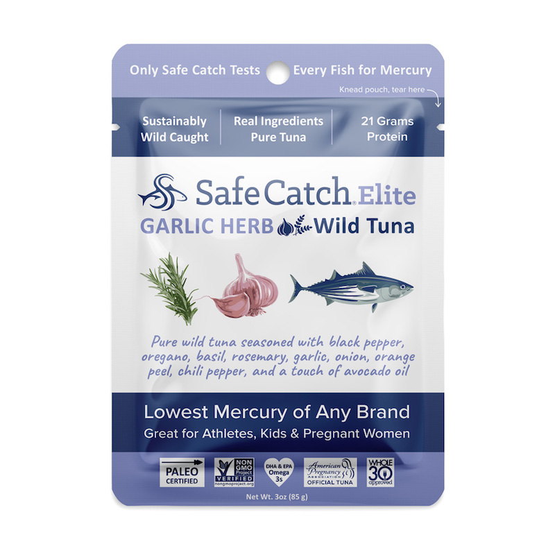 Elite Wild Tuna Garlic Herb pouch - Safe Catch - Certified Paleo, KETO Certified by the Paleo Foundation
