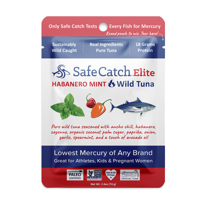 Elite Wild Tuna Habanero Mint pouch - Safe Catch - Certified Paleo, KETO Certified by the Paleo Foundation