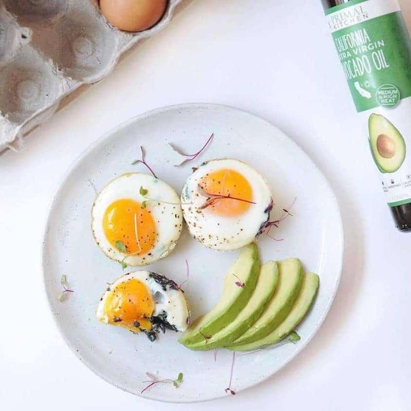 Extra Virgin Avocado Oil Primal Kitchen eggs and avocado