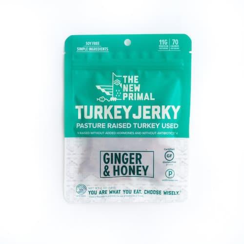 Ginger & Honey Turkey Jerky - The New Primal - Certified Paleo, KETO Certified - Paleo Foundation