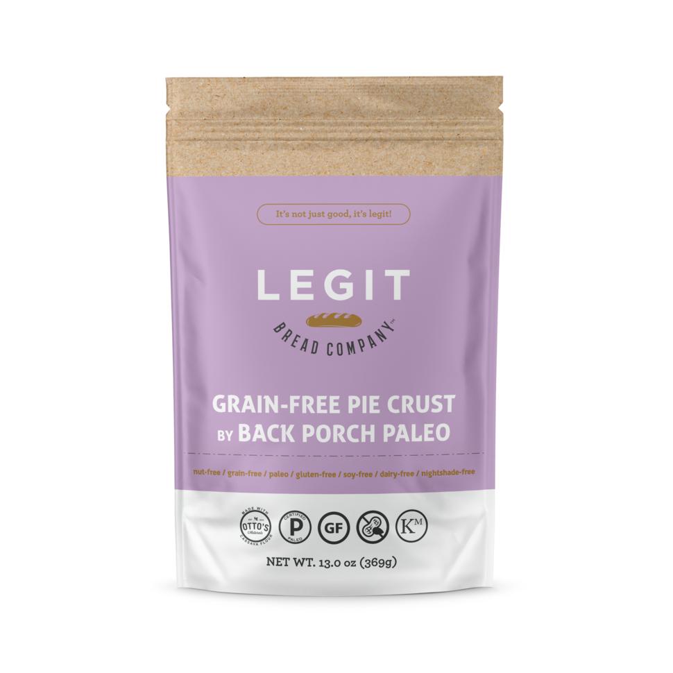 Grain Free Pie Crust - Legit Bread Co - Certified Paleo by the Paleo Foundation